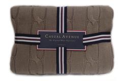 Элитный плед Messina коричневый от Casual Avenue