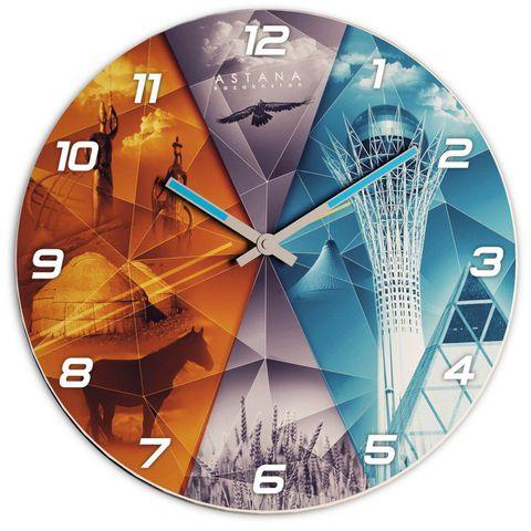 """Купить Настенные часы """"Астана-Казахстан"""" 3D по доступной цене"""