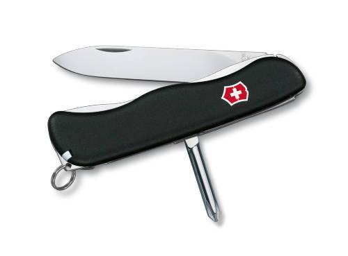 Нож для спецслужб с фиксатором лезвия и отвертки SENTINEL 111 мм/ черный (шт.) 0.8423.3