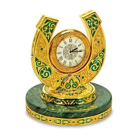 """Купить Настольные часы """"Подкова"""" в золоте по доступной цене"""