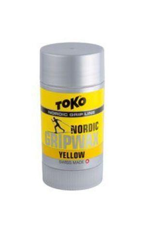 мазь лыжная Toko Nordic GripWax (желтая, 0°С/-2°С, 25 гр.)