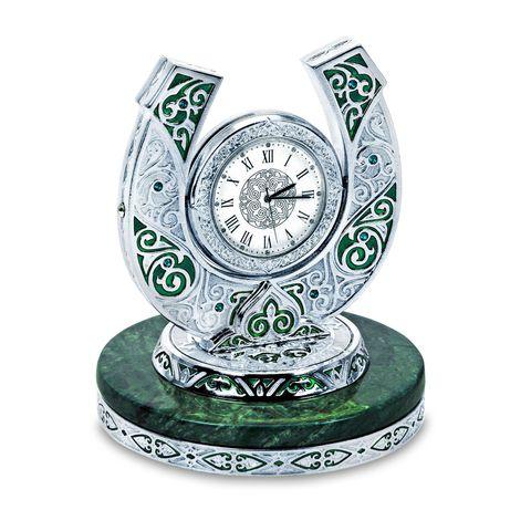 """Купить Настольные часы """"Подкова"""" в серебре по доступной цене"""