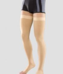 Чулки мужские с силиконовым фиксатором и открытым носком плотные III компрессии Венотекс арт. 3С213