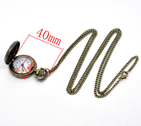 """Часы на цепочке """"Эйфелева башня"""" (цвет - античная бронза) 40х27 мм (B13737C)"""