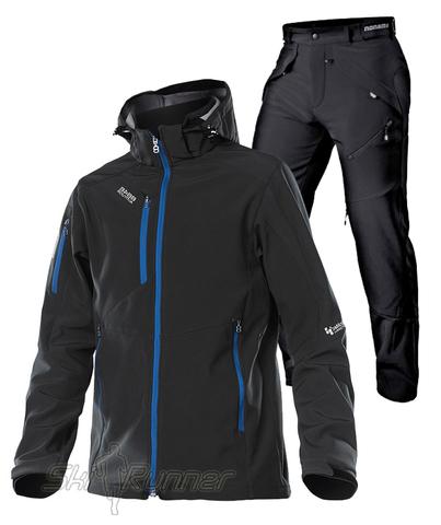 Лыжный утеплённый костюм Asteroid Grassi Black мужской