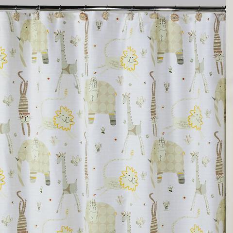 Элитная шторка для ванной Animal Crackers от Creative Bath