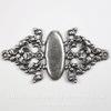 Винтажная основа для браслета (филигрань) 55х28 мм (оксид серебра)