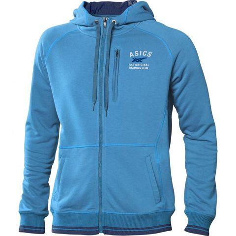 Толстовка Asics Full Zip Hoodie мужская синяя