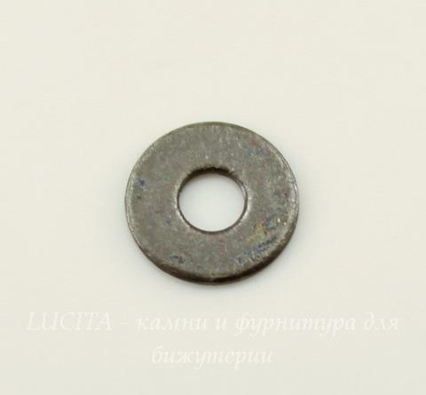 Микро-шайба TierraCast 6 мм (цвет-черный никель), 5 штук