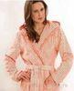 Элитный халат велюровый Schalkragen 3423 бело-маковый от Cawo