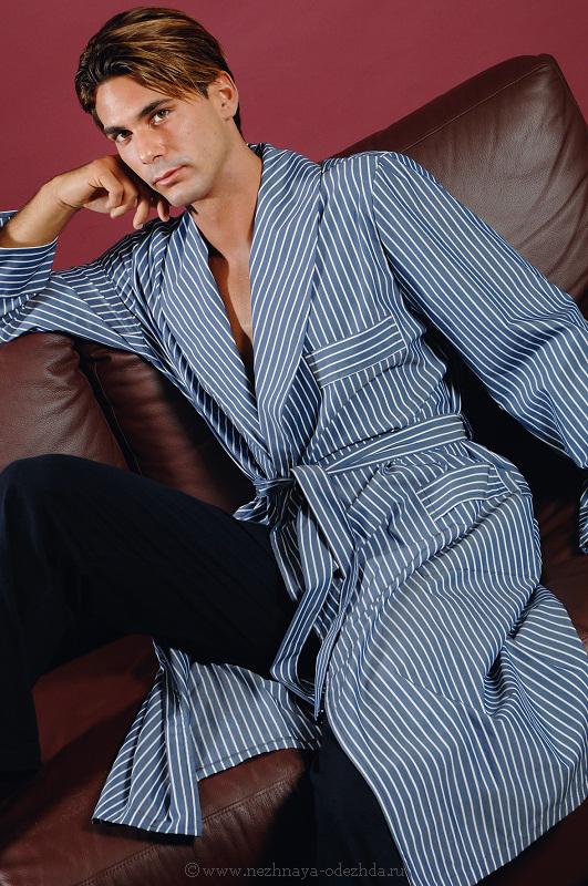 Халат в полоску B&B (Мужские халаты)