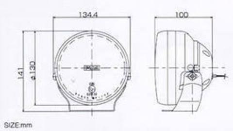 Дополнительные фары PIAA 600-XX series L-95 (полупрожектор)