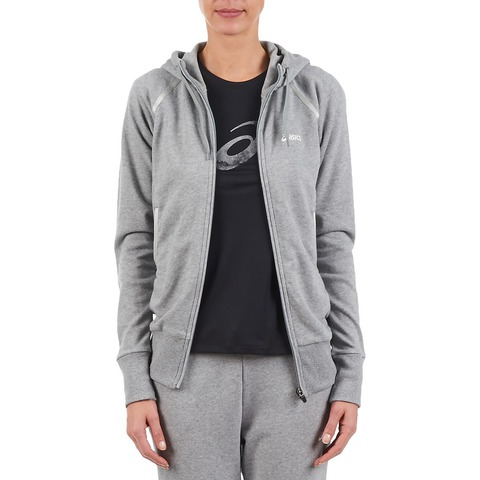 Женская толстовка Asics Knit Full Zip Hoodie Grey (109872 0714)