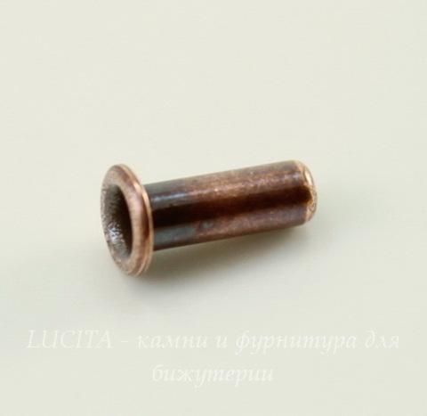 Заклепка с отверстием TierraCast (цвет-античная медь) 7х2,2 мм, 5 штук