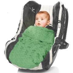 Плед вязаный, Wallaboo, 70х90см, хлопок органический, сочный зеленый