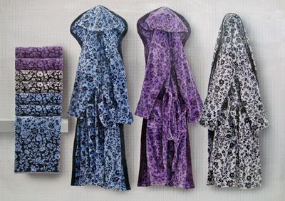 Набор полотенец 2 шт Carrara Anemone фиолетовый