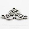 Винтажный декоративный элемент - коннектор (1-2) 12х7 мм (оксид серебра)