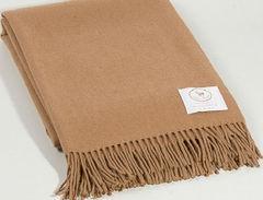 Плед 140х180 Camel от CO.BI. коричневый