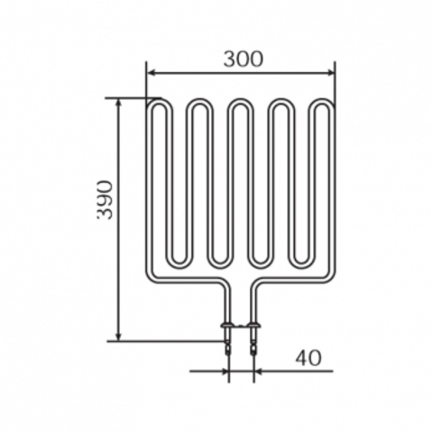 ТЭН Harvia - тэн харвия 2670W ZSK-710 (ZSK710) 230V- нагревательный элемент для печи сауны, см. HTS004HR