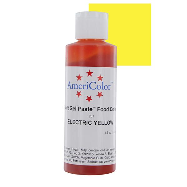 Краска краситель гелевый ELECTRIC YELLOW 261, 127 гр