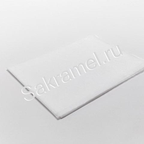 Коврик ламинированый (Лам Спанбонд, белый, 40х40 см, 50 шт/упк, стандарт)