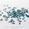 2058 Стразы Сваровски холодной фиксации Caribbean Blue Opal ss 5 (1,8-1,9 мм), 20 штук ()