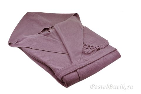 Элитный халат хлопковый Meyzer Tassels лаванда от Hamam