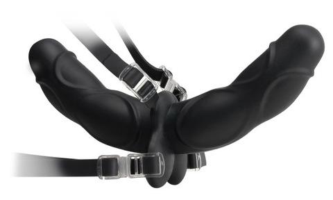Лесби двойной страпон - Double Delight Strap-On (3,8 х 25,4 см)