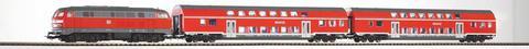 PIKO 57150 Стартовый набор: BR 218 + 2 двухэтажных вагона DB Regio, 1:87