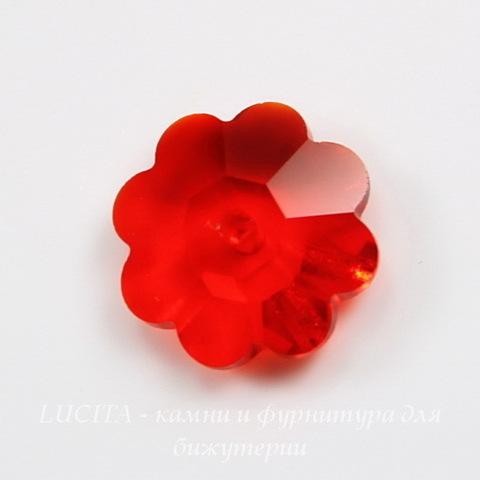 """3700 Бусина - рондель Сваровски """"Цветочек"""" Light Siam 10 мм ()"""