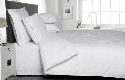 Постельное белье 2 спальное евро Bovi Elisa белое
