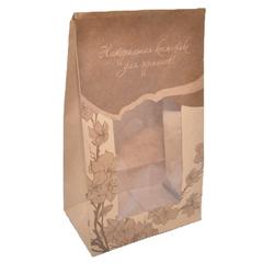 Natural Cosmetics Пакет подарочный бумажный/крафт с окошком 26,5*16,0*10,0 см