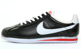 Кроссовки Мужские Nike Cortez New Collection All Black  White Red Leather
