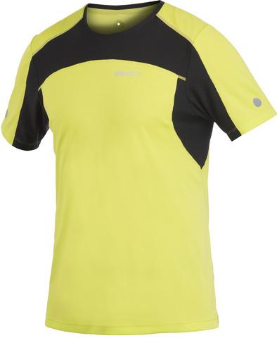 Футболка беговая мужская Craft Performance желтая