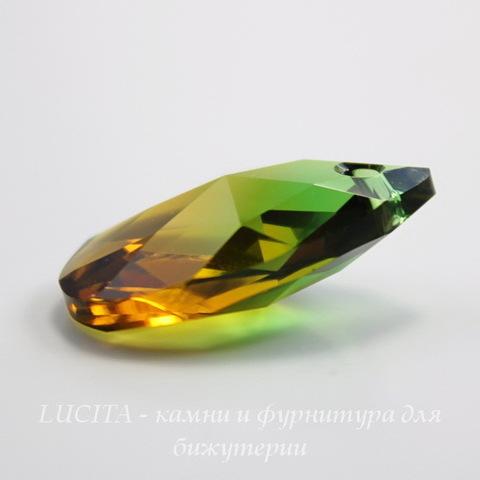 6106 Подвеска Сваровски Капля Fern Green/Topaz Blend (16 мм) ()