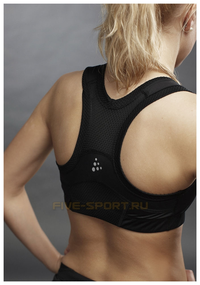 Бюстгальтер Craft Cool Sport Super Bra черный