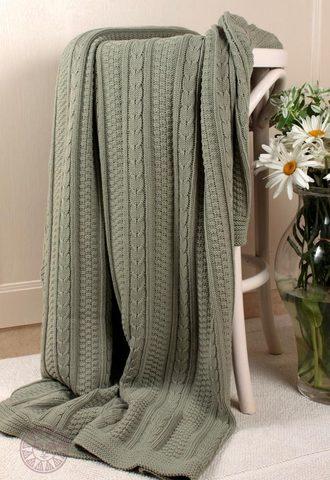 Элитный плед-покрывало Imperio 10 английский зеленый от Luxberry