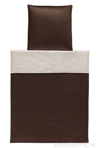 Элитный пододеяльник Basic коричневый от Elegante