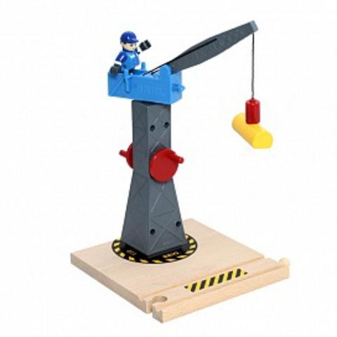 33320 BRIO Башенный подъёмный кран деревянной железной дороги