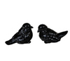 Элитная статуэтка Птичка Classico черная левая от Sporvil