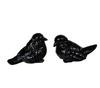 Элитная статуэтка Птичка Classico черная правая от Sporvil