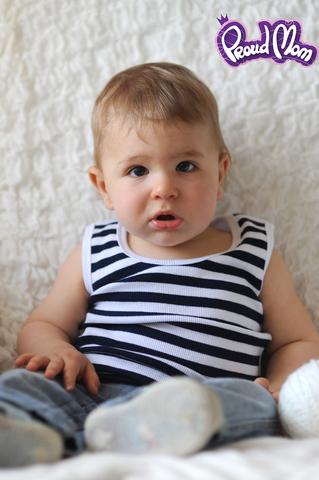 Детская маечка Легкость бытия синяя полоска