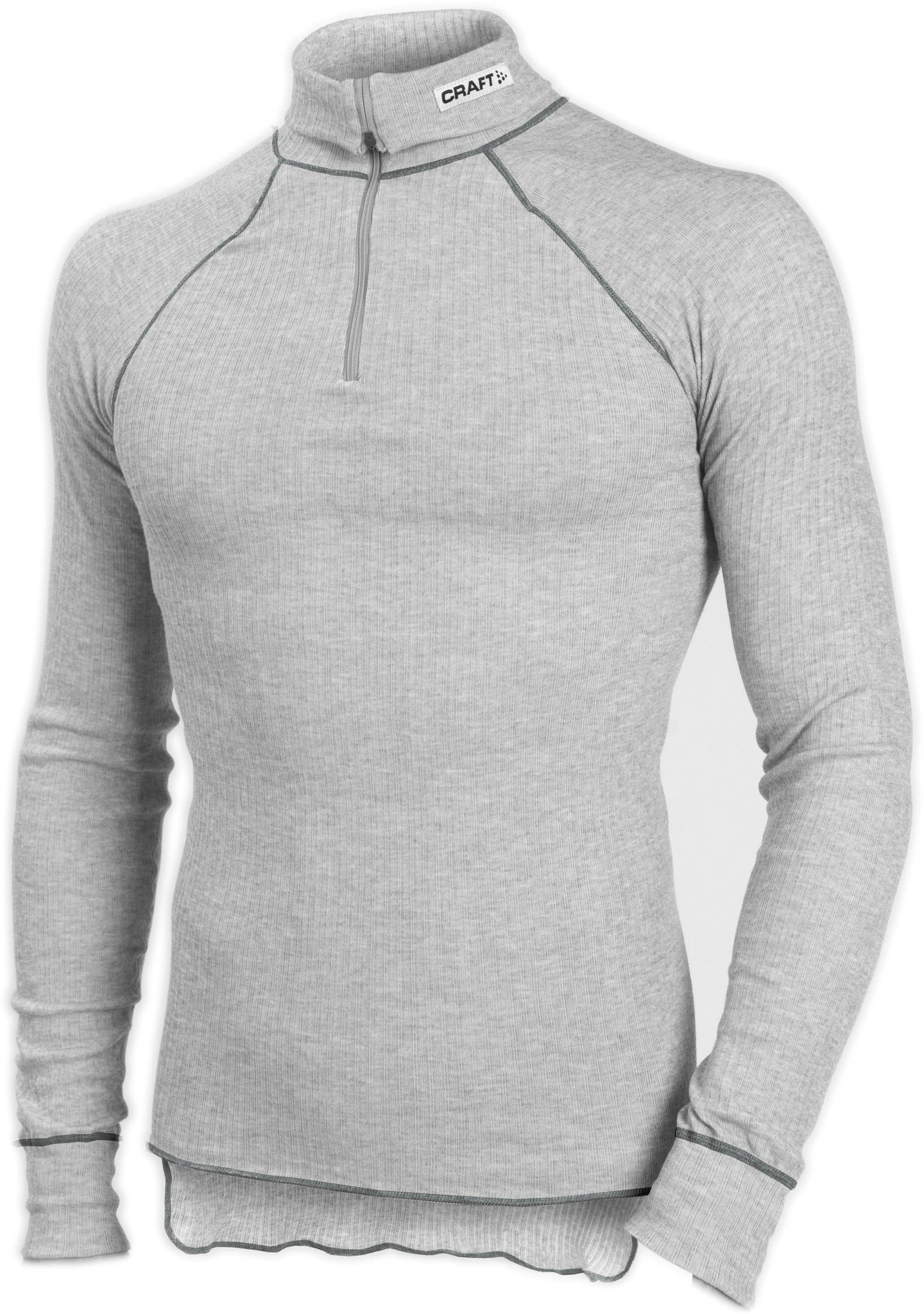 Мужское термобелье рубашка Craft Active Zip grey  (194034-3950)