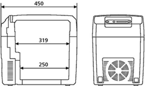 Термоэлектрический автохолодильник WAECO TropiCool TC-21FL (21л)