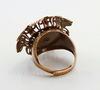"""Винтажная основа для кольца """"Цветок"""" с сеттингом для кабошона 19 мм (оксид меди)"""