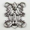 Винтажный декоративный элемент - штамп 24х20 мм (оксид серебра)
