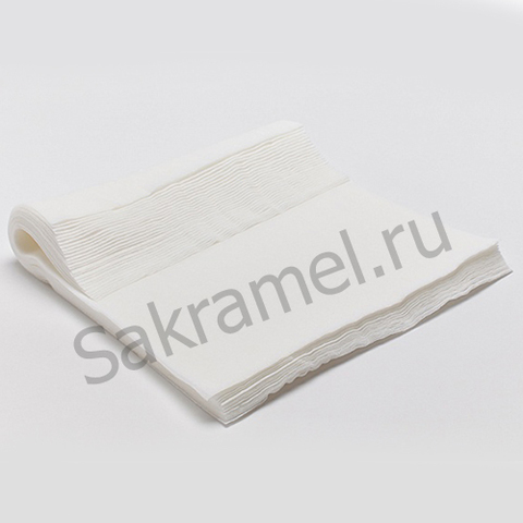 Салфетки (Спанлейс, белый, 20х30 см, 100 шт/упк, стандарт)
