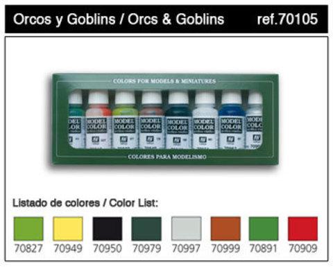 Набор красок 8 шт Orcs & Goblins