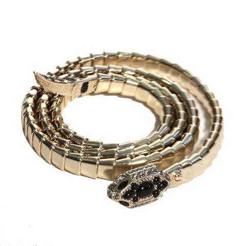Ремень в виде змеи. Цвет светло-золотой/серебряный ROBERTO CAVALLI