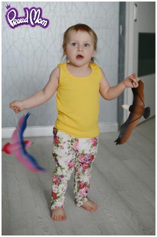 Детская маечка Легкость бытия желтая